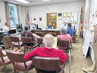 The Gallia County Board of Commmissioners read and present representatives of the Emancipation Proclamation event committee with a declaration for the event being honored the weekend of Sept. 18 and Sept. 19.