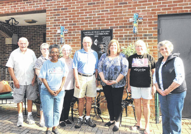 Pictured, from left, representatives of the Gallia County Snack Pack program, Henry Dillon, Carol Norris, Cathy Gholston, Pat Dillon, Gallipolis Elks representative Fred Bryant, Lisa Ward, Nancy Smith, Nancy Blevins. Not pictured is Karen Bryant.