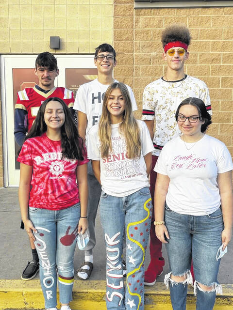 Pictured in the back row are King Candidates, from left, Alex Oram, Blaik Saunders, Brayden Hammond; pictured front row, from left are Queen Candidates Ellen Weaver, Cara Frazee, and Izabellah Ashworth. Not pictured are candidates Rylee Gaskin and Kyeler Rossiter.