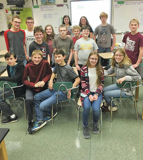 Sixteen Amherst Junior High students proved their smarts Dec. 1, placing first in the state in an academic competition.