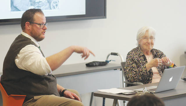 Historian Russ Marty and Mary Powers-Miller discuss the relationship between the Amherst Schools and the Powers family as well as feelings in the city during World War II.