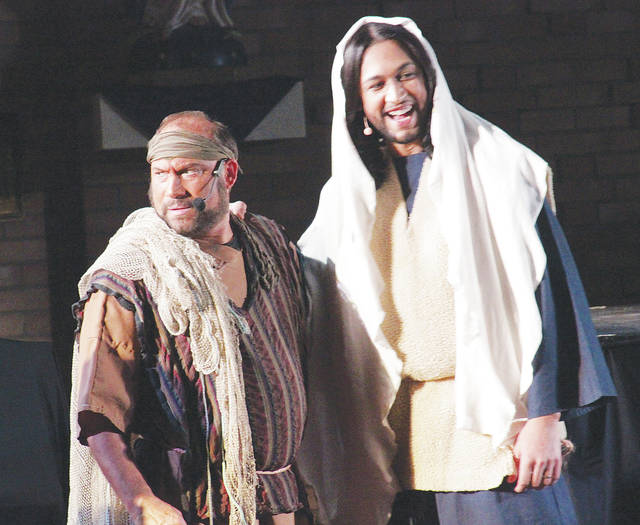 Jesus, played by Ernesto Alcantara, greets one of many followers.
