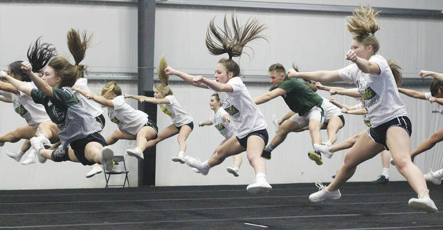 The Amherst Comets cheerleading squad will compete at a state competition on March 4.
