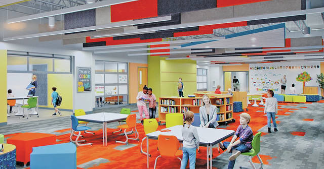This artistic rendering shows what the kindergarten portion of the new Powers Elementary School will look like once it opens on South Lake Street.