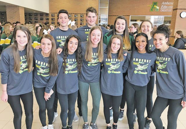 The Amherst Steele indoor track and field teams had an incredible showing at the indoor state meet.