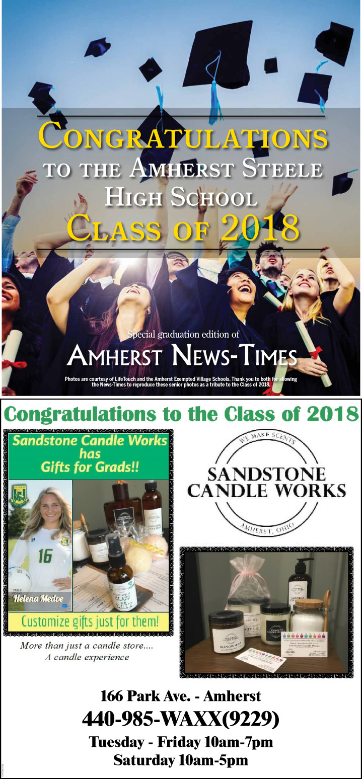 Congratulations to the Amherst Steele High School Class of 2018