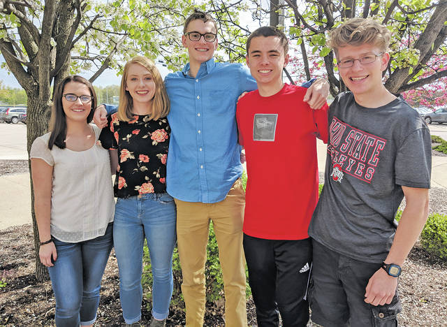 At the top of their class at Amherst Steele High School are Abby Jones, Abigail Hershner, Nathan Moore, Tyler Kovach, and Andrew Vontell.