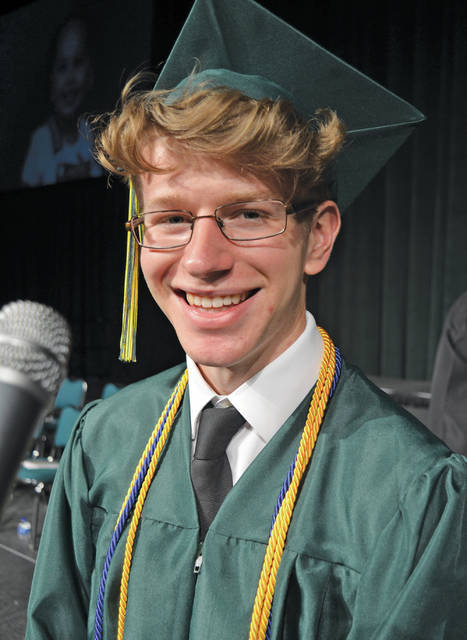 """""""We must remind ourselves that the numbers are relative and do not actually define who we are,"""" valedictorian Andrew Vontell told graduating Amherst students Saturday at commencement."""