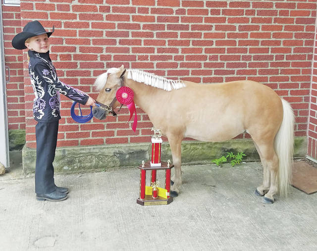 Callie Finnegan earned the title of reserve champion in trail at the Ohio State Fair.