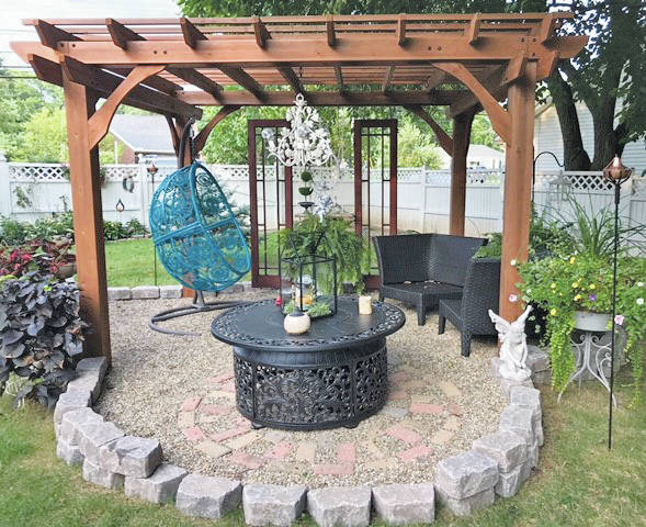 "The Duffins created their gardens to be a touch zone for their grandchildren. ""We want them to get their hands on the leaves, the fountains, the mechanical trinkets, and the treasures we have all around,"" said Mary."