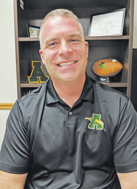 Joe Tellier has been catapulted into the principal's position at Amherst Steele High School. He's full of energy for the job and teachers are already speaking highly of him.