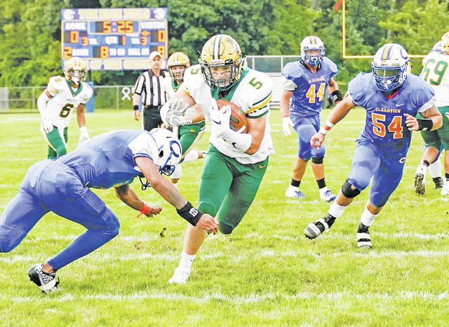 Nathan Soto looks to score in Monday's opener, helping the Comets to a 33-point shutout.
