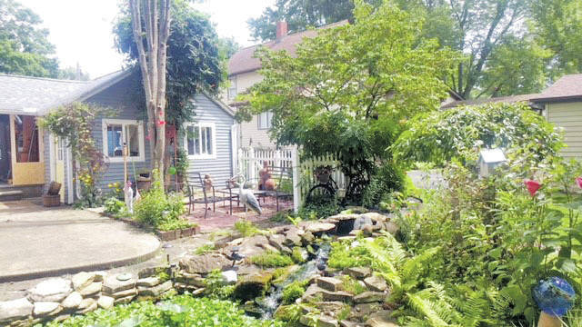 The Sekletar home at 378 Long St. is the winner of the final Amherst Garden Club award of the season.