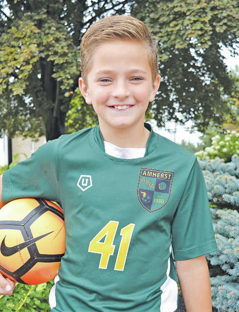 Amherst fourth-grader Jayden Becker is heading next month to Spain to train on the FC Barcelona fields.