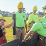 Students help build playground pit