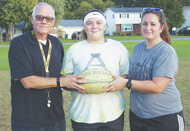 Steele rugby head coach Jim Yanosko, senior team member Sierra Baker, and assistant coach Bri Slavik reflect on some of the program's accomplishments. Baker just accepted a four-year scholarship from Youngstown State University.