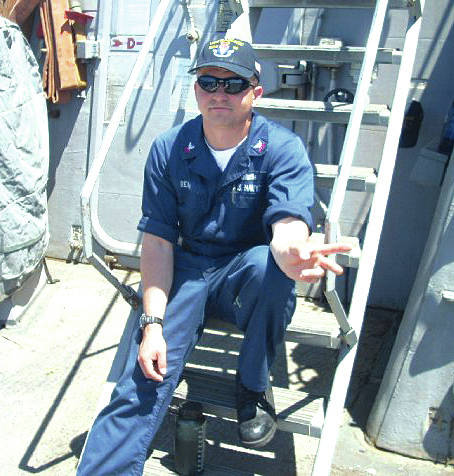 Fire Controlman 1st Class Gary Leo Rehm Jr. is shown here in this photo from his Facebook page. He was killed early Saturday near Japan.