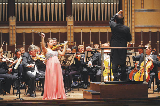 Gallia Kastner of Illinois, co-champion of the 2015 Cooper International Competition, performs with the Cleveland Orchestra.