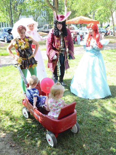 Aaaarrr, mateys! It be Cap'n Hook with Peter Pan, Mary Poppins, and Ariel the little mermaid at the 2016 Family Fun Fair.
