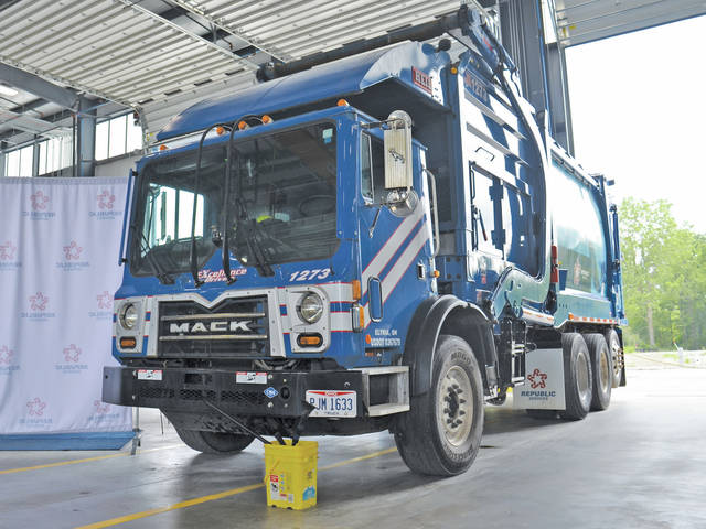 Super-quiet garbage trucks powered by compressed natural gas instead of diesel fuel are now in use by Republic Services, which operates the county landfill in New Russia Township, just north of Oberlin.