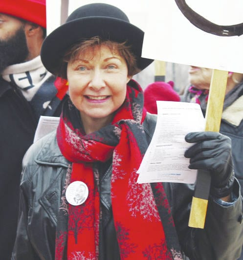 Janet Garrett, pictured here marching in January's Martin Luther King Day celebration in Elyria, will once again run against incumbent Jim Jordan for Ohio's Fourth Congressional District seat in the U.S. House of Representatives.