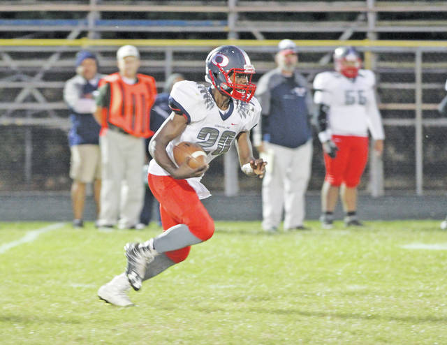 Junior running back Ravon Eisom takes off during Friday's game versus Clearview, in which Clippers found a homecoming victory.