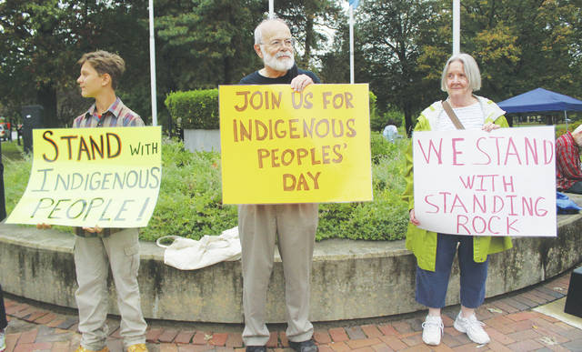 Oberlin is the first city in Ohio to pass a resolution in favor of Indigenous Peoples Day. People gathered Monday on Tappan Square to mark the city's first official observance of the holiday.