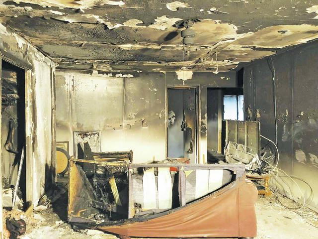 A young couple needs help after an electrical baseboard heater short-circuited and engulfed their New Russia Township living room in flames.