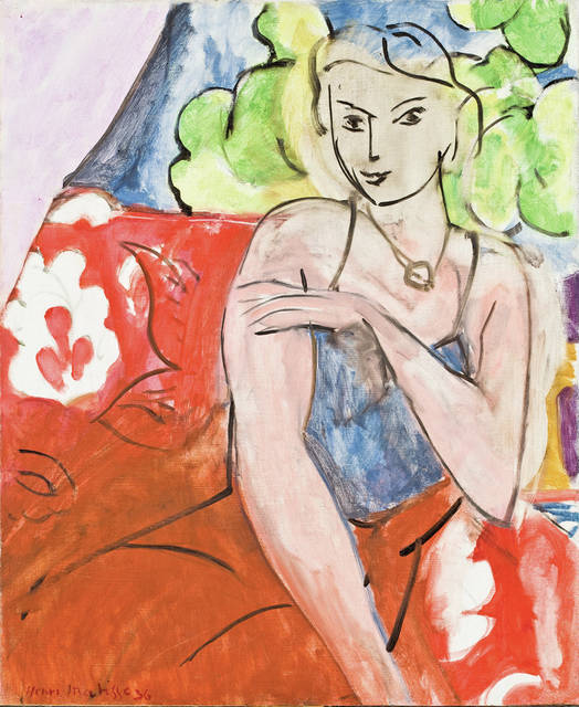"""""""Young Girl Seated"""" by Henri Matisse is a gift to the Allen Memorial Art Museum by Joseph and Enid Bissett."""