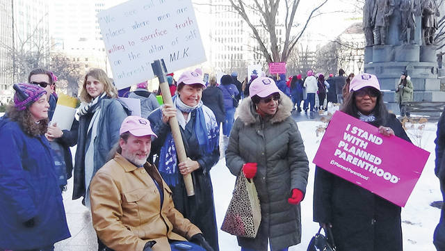 Columbus police estimate 3,000 people showed up to the second Women's March. Janet Garrett, Democratic candidate for the U.S. House of Representatives, was among them.