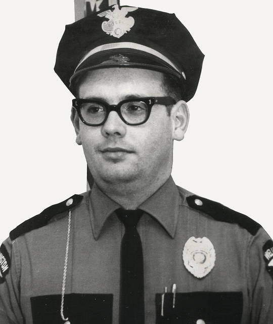 Longtime county DARE officer Fred Hughes, pictured as a Wellington police officer in 1965, died Jan. 19 after a long illness.