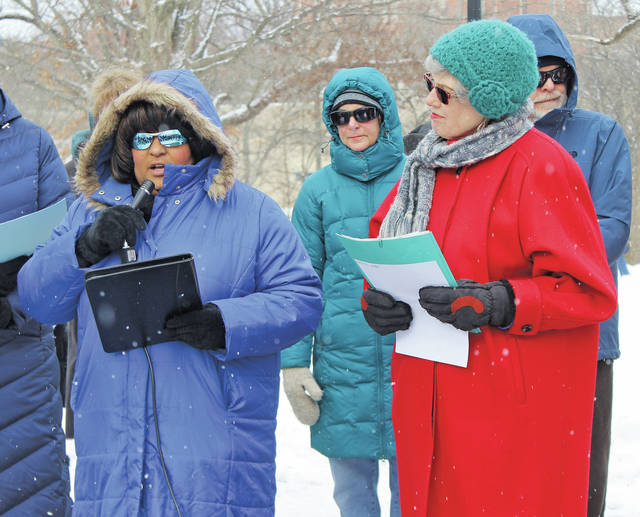 Oberlin councilwoman Sharon Pearson reads the city's Martin Luther King Jr. Day proclamation.