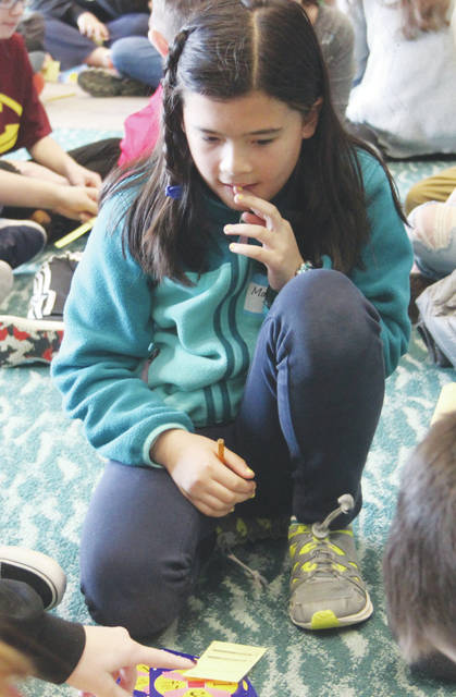 Fifth-grader Maia Tritt represents Oberlin's Prospect Elementary School in 24 Challenge competition.