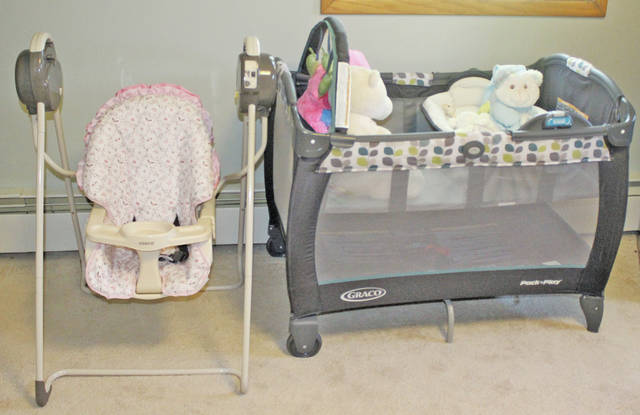 This nursery at Family Promise of Lorain County will be used by a baby born there last week.