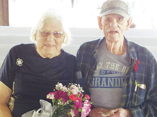 Wilma Zech and L.D. Daugherty are named senior citizen king and queen Aug. 23 at the Lorain County Fair.