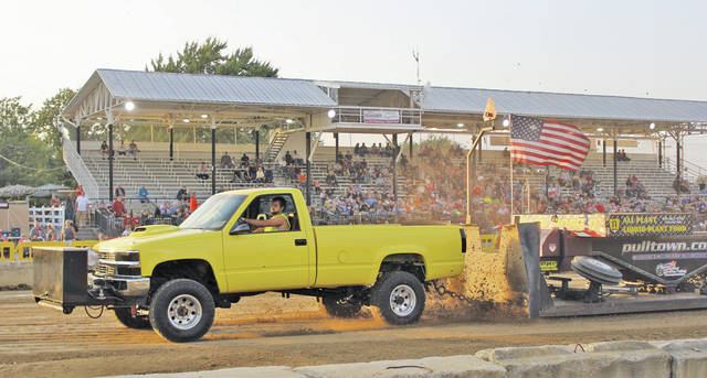 Chase Smith drives his 1973 Chevy just about 200 feet off the lead at 329.964.