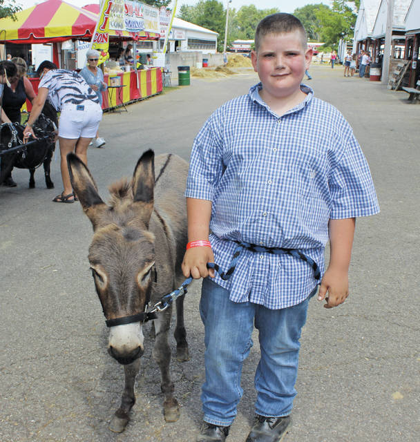 <p style=&quot;text-align: center;&quot;><strong>Jonathan Schramm of New London </strong> <p style=&quot;text-align: center;&quot;><strong>with his donkey Nicci</strong> <p style=&quot;text-align: center;&quot;><em>&#8220;She wiggles her ears.&#8221;</em>