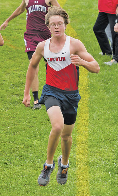 Mattias Fritz runs at the JB Firestone Invitational in Black River.