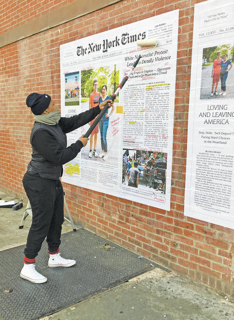 """Artist Alexandra Bell's """"Counternarratives"""" project asks people to think critically about how they consume the news and to question biases about race, gender, and politics."""