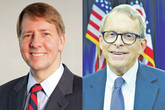 Richard Cordray (D) and Mike DeWine (R)