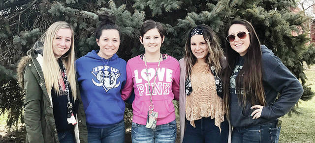Wauseon FFA Equine Team members, from left, Madison Lulfs, Rachel Lee, Kayln Nofziger, Jozylnn Smallman, and Bri Ruby placed 12th in a district competition.