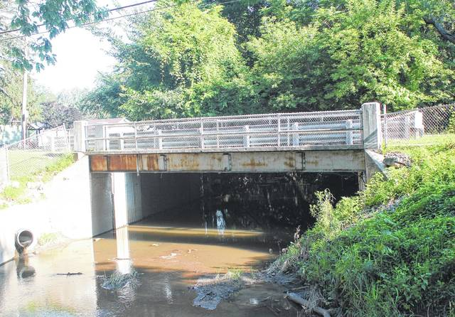 The bridge over Ai Creek on W. Garfield Avenue in Swanton will be replaced this year.
