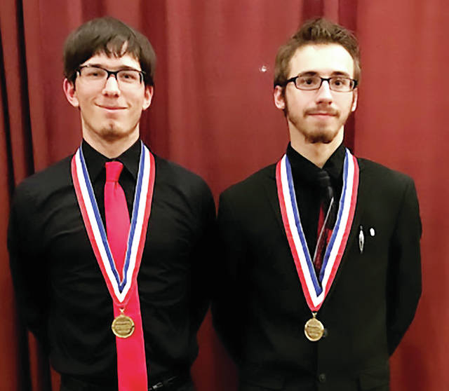 Four County Career Center students Parker Wittenmyer of Wauseon and Cory Hemenway of Bryan placed in the top 10 at the 2018 National Leadership Conference of Business Professionals of America (BPA) held in Dallas, Texas. Parker competed in SQL Database Fundamentals and Cory competed in Network Administration Using Microsoft/MTA Networking Fundamentals. FCCC students joined over 5,000 other conference delegates from across the nation to participate in national-level business skill competitions. BPA is a national organization for high school, college, and middle school students preparing for careers in business and information technology. FCCC advisors are Mary Jo Beilharz, Matt Geiger, Tim Ricketts, and Tina Short.