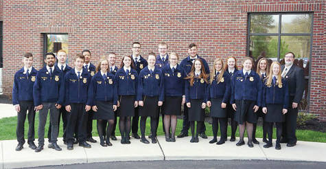 Twenty-three members of the Pettisville FFA students attended some part of the state convention.