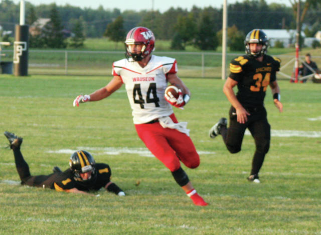 Dawson Rupp carries the ball in Wauseon's season opener last season. He will be one of the Indians' representatives in the all-star game.