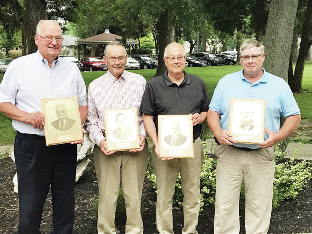 Pictured from left are 2018 Fulton County Agricultural Hall of Fame inductees Richard Gallup, Richard Martin, Ed Miller, and Dennis Wyse.