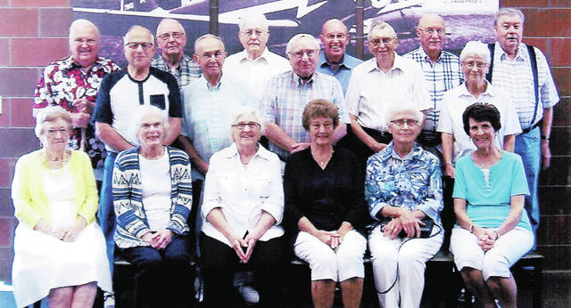 The Wauseon High School Class of 1950 held its 68th reunion Sept. 5 at Sullivan's Restaurant in Wauseon. Pictured are - first row - Diann Knapp Roth, Joan Miller Merrill, Melva Banister Grisier, Annabelle Stutzman Green, Jayne Seaman Lozer, Marilyn Homan Knepley - second row - Rollin Wanemacher, Marshall Boyers, Jarol Yackee, Sterling King, Joanne Seaman Bowerman - third row - Hal Zug, Barry Brigham, Duane VanValkenburg, Don Warncke, Norval Figy, Rollo Frazier.