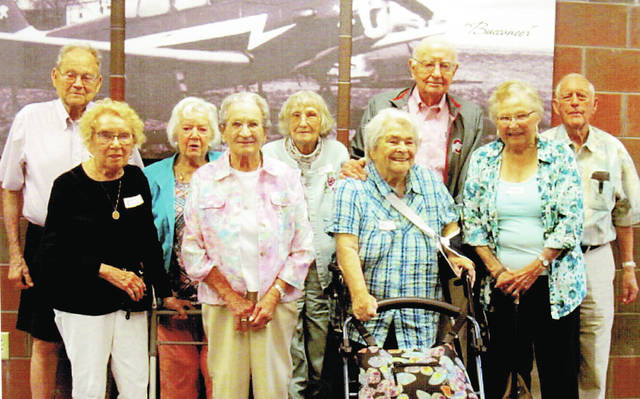 The Wauseon High School Class of 1947 gathered for its 71st reunion Aug. 25 at Sullivan's Restaurant in Wauseon. Pictured are - front, from left - LauraJane Myers Semer, Jean Keafer Figy, Doris Gillen Koman, Annabell Ort Markley - back, from left - Dail Stutzman, June Lillich Patterson, Lois Heer Keith, Wayne Schroeder, and Robert Batdorf.