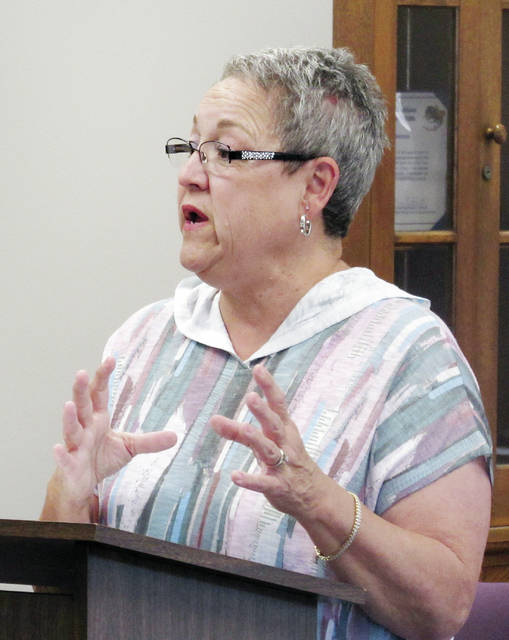 Chili Cook-Off committee member Debbie Nelson attended Monday's Wauseon City Council meeting to extol the virtues of the event.