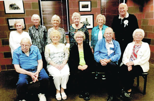 The Wauseon High School Classes of 1945 and 1946 gathered for a reunion to celebrate and reminisce Sept. 14 at Sullivan's Restaurant in Wauseon. Pictured are: standing, from left, Class of '45 members Lois Haunstein Bolander, Donna Neuenschwander Schaffner, Ernestine Colon Young, and Class of '46 members Leta Lewis Marzolf, Betty Blackmore Trigg, Jim Figy. First row, seated, from left, Class of '46 members Orra Vollmer, Joan Hammond Konwinski, Ruth Mahon Hutchinson, Lee Graffice, Hazel Pike Figy.